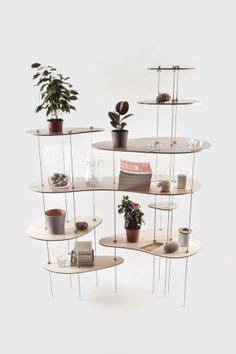 nenuphar organic shelving design by dopludo collective & lesha galkin