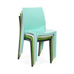 Sento Chaise empilable gris clair - intérieur & extérieur