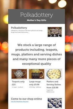 Mother's Day Gifts from Polkadottery