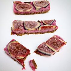 chewy fig and blackberry ice cream bars #nourish