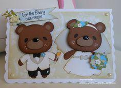 Cricut teddy bears on parade summer theme step card. cricut