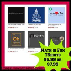 Math is Fun TShirts from Tanga $5.99 #lol #shirts #hotdeals #sale #humor