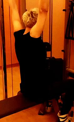 """tao arms O________O I  started going to the gym this week and my motto is """"exercise like Tao is judging you"""""""