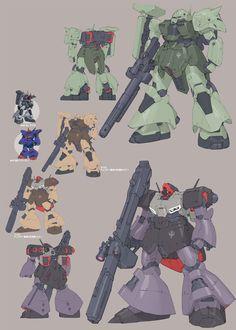 A.O.Z Re-Boot02-A Zaku III AMX-011G, DOM III AMX-009G