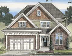 Traditional Style House Plans - 2434 Square Foot Home , 2 Story, 4 Bedroom and 2 Bath, 2 Garage Stalls by Monster House Plans - Plan 23-434