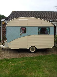 Vintage classic retro FISHER HOLIVAN 10ft small lightweight rare caravan!4 berth…