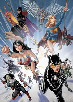 """DC Girls ✮✮Feel free to share on Pinterest"""" ♥ღ www.UNOCOLLECTIBLES.COM"""