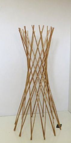 Master Garden Products Carbonized Barkless Willow Funnel Trellis 48Inch     Read More At The Image