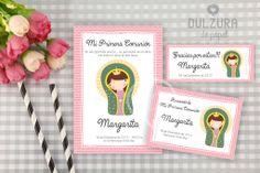 Invitación Primera Comunión Guadalupe #Invitaciones #Primeracomunion #Virgenguadalupe #virgencita #comunion