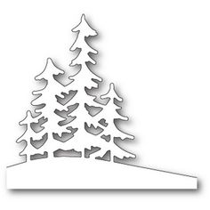 Memory Box ALPINE TREES Craft Die 99829 - - Memory Box dies are made of durable steel and usable in nearly every machine on the market! Use on cardstock, felt, fabric or shrink plastic. Cut, stencil, emboss and create! Tree Crafts, Paper Crafts, Diy Crafts, Circle Crafts, Christmas Tree Decorations, Christmas Crafts, Christmas Ornaments, Handmade Christmas, Wood Decorations