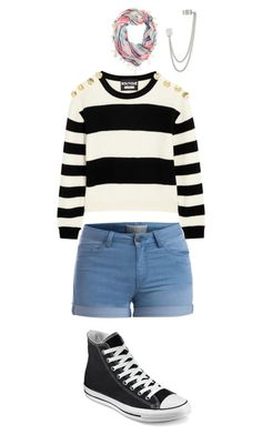 4a03c275516e27 Untitled  11 by bladegilbert on Polyvore featuring polyvore fashion style  Boutique Moschino Pieces Converse French