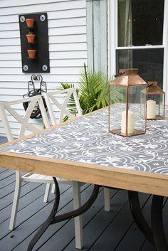 DIY Tile Tabletop - Seeking Lavendar Lane