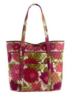 Hello Dahlia by Vera Bradley. Vera Bradley Patterns, Tote Bag, My Style, Dahlia, Bags, Color, School, Clothes, Fashion