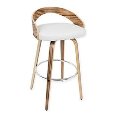 Crate Amp Barrel Lowe Ivory Leather Bar Stools Bar Stool