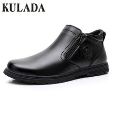 KULADA New Men Boots Zipper Side Leather Boots Spring&Autumn Men Comfortable Casual Warm Waterproof Boots Men's Walking Shoes Mens Winter Boots, Autumn Boots, Leather Men, Leather Boots, Ways To Lace Shoes, Casual Boots, Men Casual, Ankle Boots Men, Mens Boots Fashion