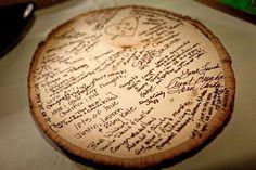 Wood Slice Guestbook