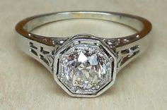 Vintage Antique .50ct Old Mine Cut Diamond by DiamondAddiction