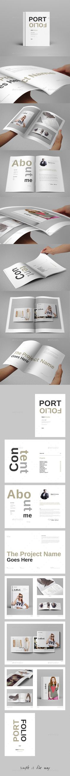 Portfolio Booklet  -  InDesign Template • Only available here! →…