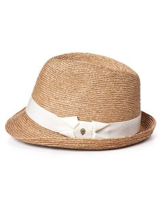 fedora, white band
