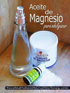 Aceite de Magnesio para adelgazar: cómo se hace, cómo se usa, cómo funciona