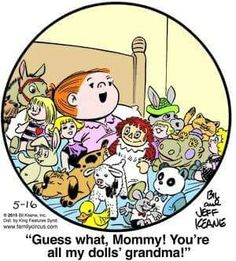 Created by Bil Keane and based loosely on his life, Family Circus is about the challenges and adventures of a suburban family of six. Family Circle, Love My Family, Family Guy, Family Circus Cartoon, Free Comics, Raggedy Ann, Funny Cartoons, Funny Memes, Comic Strips