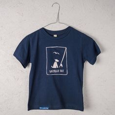 The Simple Things children's t-shirt navy from Another Place is an ultra comfy t-shirt in navy, with a classic cut. Made from 100% organic combed cotton and  printed in Cornwall. Available online - £12.95 - at: www.anotherplace.co.uk/clothing/watergate-bay-childrens-navy-t-shirt.html