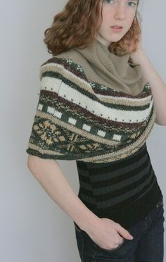 Two sweaters together to make a poncho/cowl combo. Use sleeves to make legwarmers.
