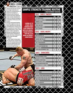 Brock Lesnar MMA Strength Workout