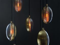 Our classic Oona Pendant, now in a second, smaller size. Individually crafted from blown glass and hand-formed brass.