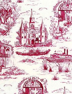One should probably not covet material things, but this New Orleans toile makes my heart skip a beat!!!