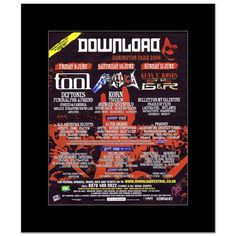 DOWNLOAD FESTIVAL - 2006 - Tool Metallica Alter Bridge Matted Mini Poster - 31.8x25.4cm: Amazon.co.uk: Kitchen & Home