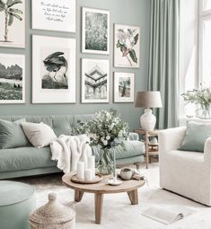 Mint Living Rooms, Living Room Green, Boho Living Room, Interior Design Living Room, Living Room Designs, Art For Living Room, Colorful Living Rooms, Living Room Ideas, Style Deco