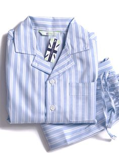 2ef8aec59a Our boys traditional blue and white striped pyjamas are a homely classic