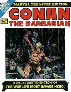 Conan the Barbarian Marvel Treasury Edition, featuring Barry Windsor Smith and Roy Thomas' adaptation of Robert E Howard's Red Nails. #Conan #MarvelTreasuryEdition #BarryWindsorSmith #RedNails
