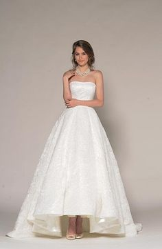 Strapless Princess/Ball Gown Wedding Dress  with Natural Waist in Beaded Lace. Bridal Gown Style Number:33278987