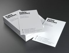 Tarjeta de visita / Bussines card by Pablo Sánchez, via Behance