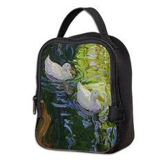 White Ducks Neoprene Lunch Bag by Margaret Ann Missman