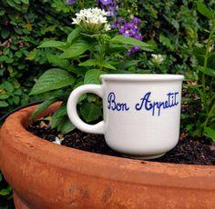 Vintage Furio Bon Appetit Mugs/Furio Bon Appetit Kitchenware/Vintage Italian Mugs/Italian Ceramic/Bon Appetit Cups/Furio Italian Coffee Mugs by aLaRoad on Etsy