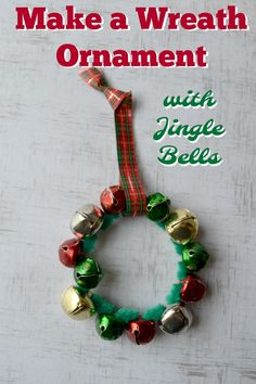 Christmas Crafts : Illustration Description Make a Wreath Ornament with Jingle Bells - A fun and easy Christmas craft, perfect for kids! Preschool Christmas Crafts, Kids Christmas Ornaments, Easy Christmas Decorations, Christmas Crafts For Kids To Make, Christmas Bells, Holiday Crafts, Christmas Activities, Spring Crafts, Jingle Bell Crafts