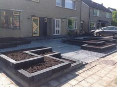 betonblock garten Front yard laying plaster / gravel / container (no plants) - job,