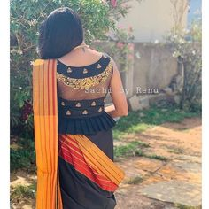 Ideas Embroidery Designs Fashion Indian Saris For 2019 Saree Blouse Neck Designs, Fancy Blouse Designs, Stylish Blouse Design, Designer Blouse Patterns, Indian Fashion, Style Fashion, Indian Saris, Indian Blouse, Indian Wear