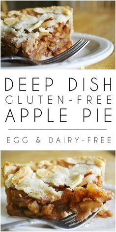 wrong time of year to treat yourself to this egg and dairy-free Deep Dish Gluten-Free Apple Pie! Being naturally sweetened also makes it practically healthy! Sans Gluten Vegan, Gluten Free Pie, Gluten Free Sweets, Foods With Gluten, Gluten Free Cooking, Dairy Free Recipes, Lactose Free, Best Gluten Free Apple Pie Recipe, Free From Dairy Desserts