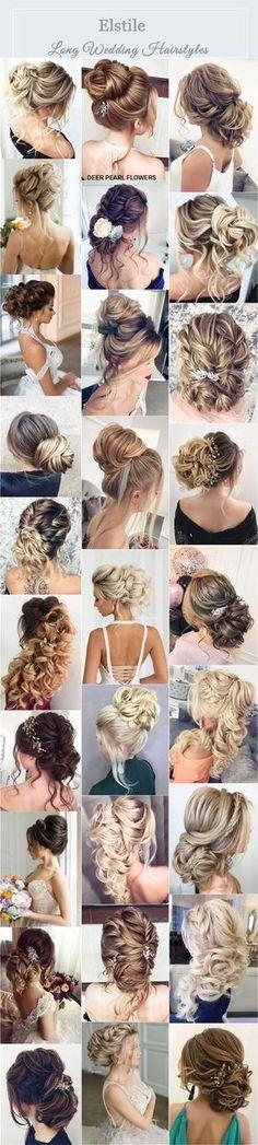 Elstile Wedding Hairstyles & Updos for Long Hair / http://www.deerpearlflowers.com/wedding-hairstyles-for-long-hair/