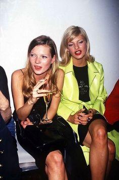 Kate Moss & Linda Evangelista