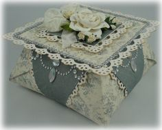 Blue Origami Box  www.tarascraftstudio.com
