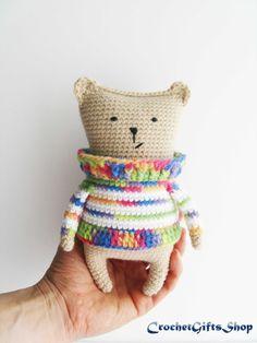 Amigurumi bear Crochet pattern Digital от crochetgiftsshop на Etsy