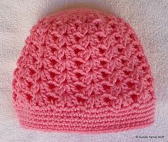 Free Crochet Pattern:PERFECT PINK SHELLS CAP…great lacy look, has matching scrflette pattern on next post. Crochet Adult Hat, Bonnet Crochet, Crochet Beanie Pattern, Crochet Cap, Crochet Baby Hats, Crochet Scarves, Crochet Patterns, Crocheted Hats, Knit Hats