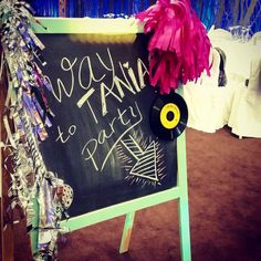 #disco #themed #birthday #party #sign #banner #fucshia #silver #tassels #inspiration #decoration #ideas