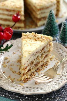 Cookie Desserts, Sweet Desserts, Sweet Recipes, Cake Recipes, Dessert Recipes, Hungarian Desserts, Hungarian Recipes, Cake Piping, Good Food
