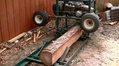Turning a old golf cart into a sawmill.